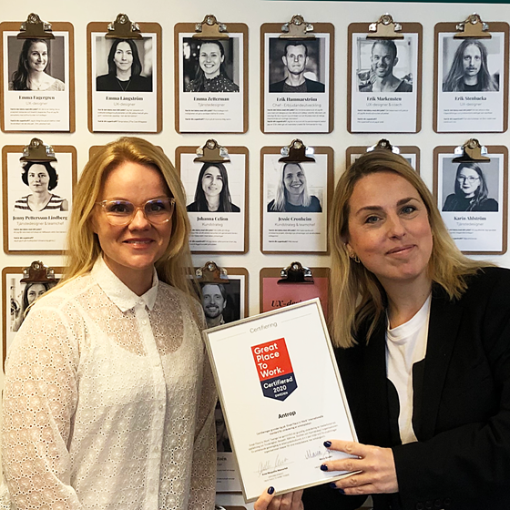 Antrop is one of Sweden's best workplaces - once again!